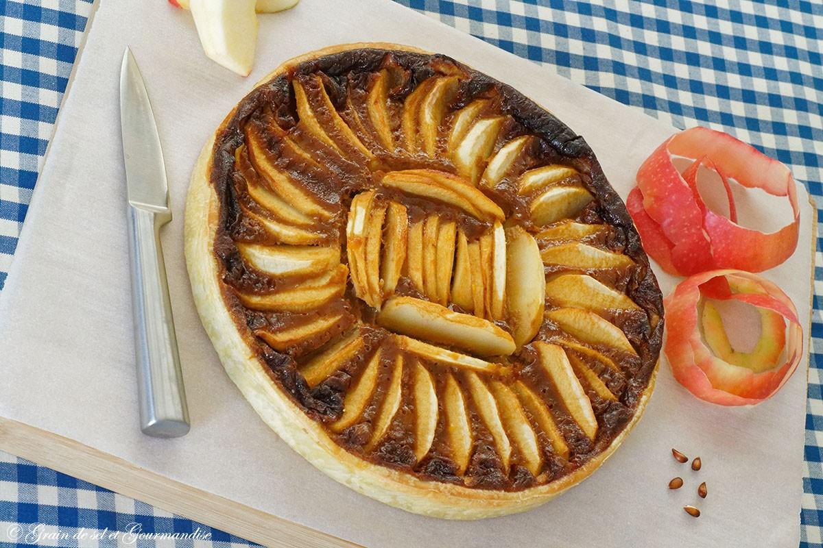 Tarte aux pommes et à la chicorée