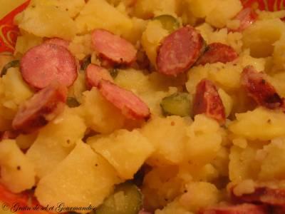 Salade Tiède de Pommes de Terre aux Saucisses