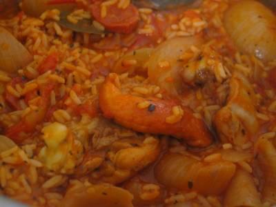 Mijoté de Poulet au Chorizo