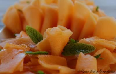 Carpaccio de melon à la menthe