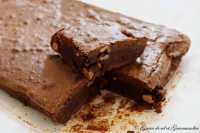 Brownie au chocolat noix et chouchous