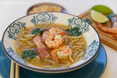 Soupe thaï crevettes - gingembre