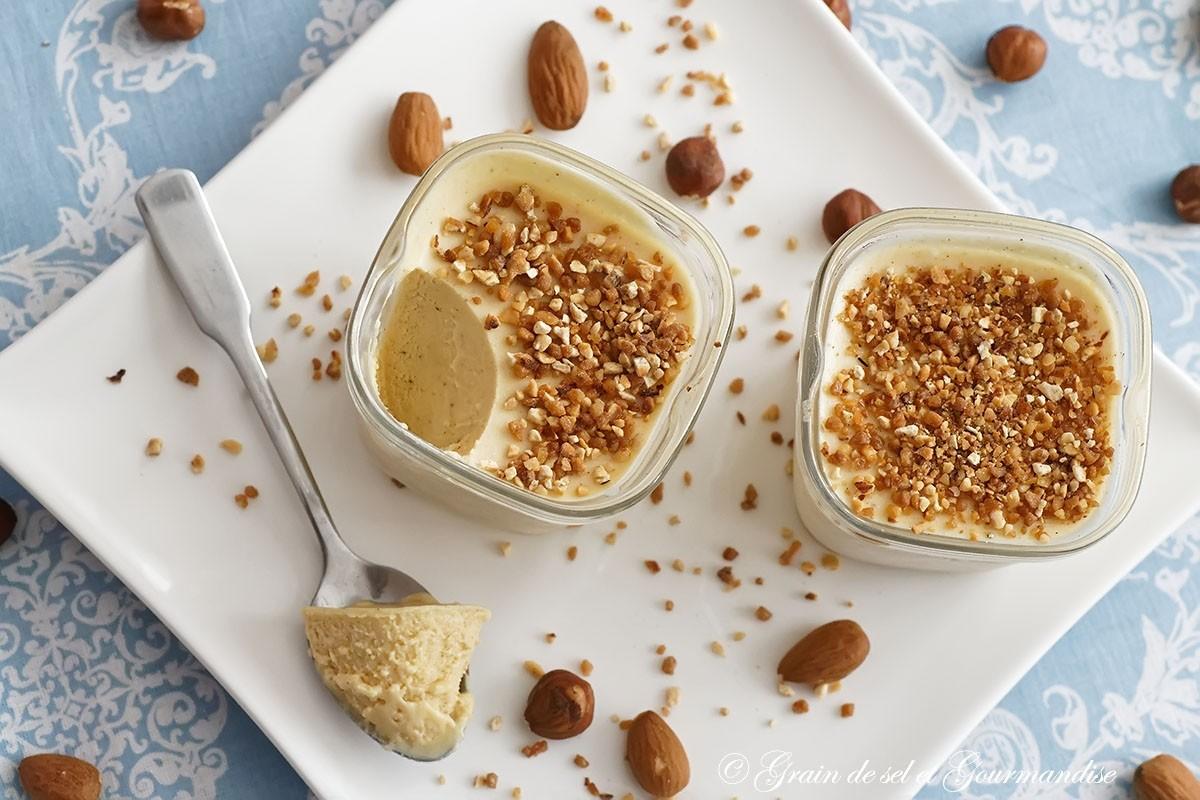 Semifreddo au praliné (Parfait glacé) (sans sorbetière)
