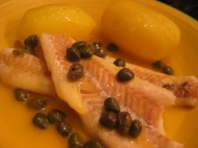 Filets de Colin beurre fondu aux câpres