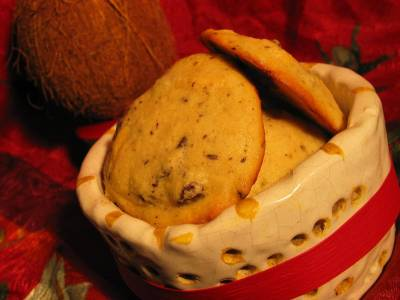 Cookies Aux Deux Chocolats et Noix de Coco