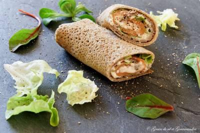 Crêpes de sarrasin à la brousse et au saumon fumé (Bataille food #53)
