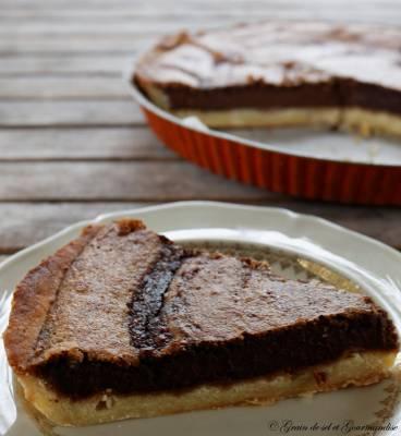 La tarte au chocolat de Julia ... et ses noisettes